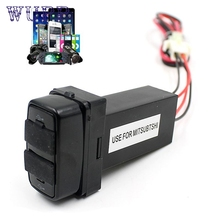 Coche 5 v 2.1a dual usb puerto socket cargador de teléfono celular gps para mitsubishi ja13
