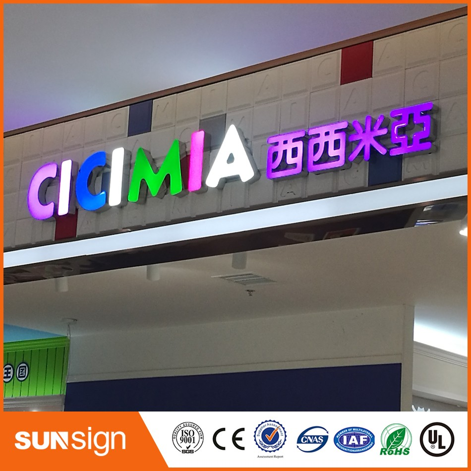 Waterproof advertising outdoor business signs price epoxy resin led channel letters in for How much do exterior business signs cost