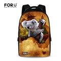 Diseñador de la marca 17 pulgadas mujeres mochila mochila niñas animales koala canguro portátil backbag impresión adolescente escuela infantil back pack