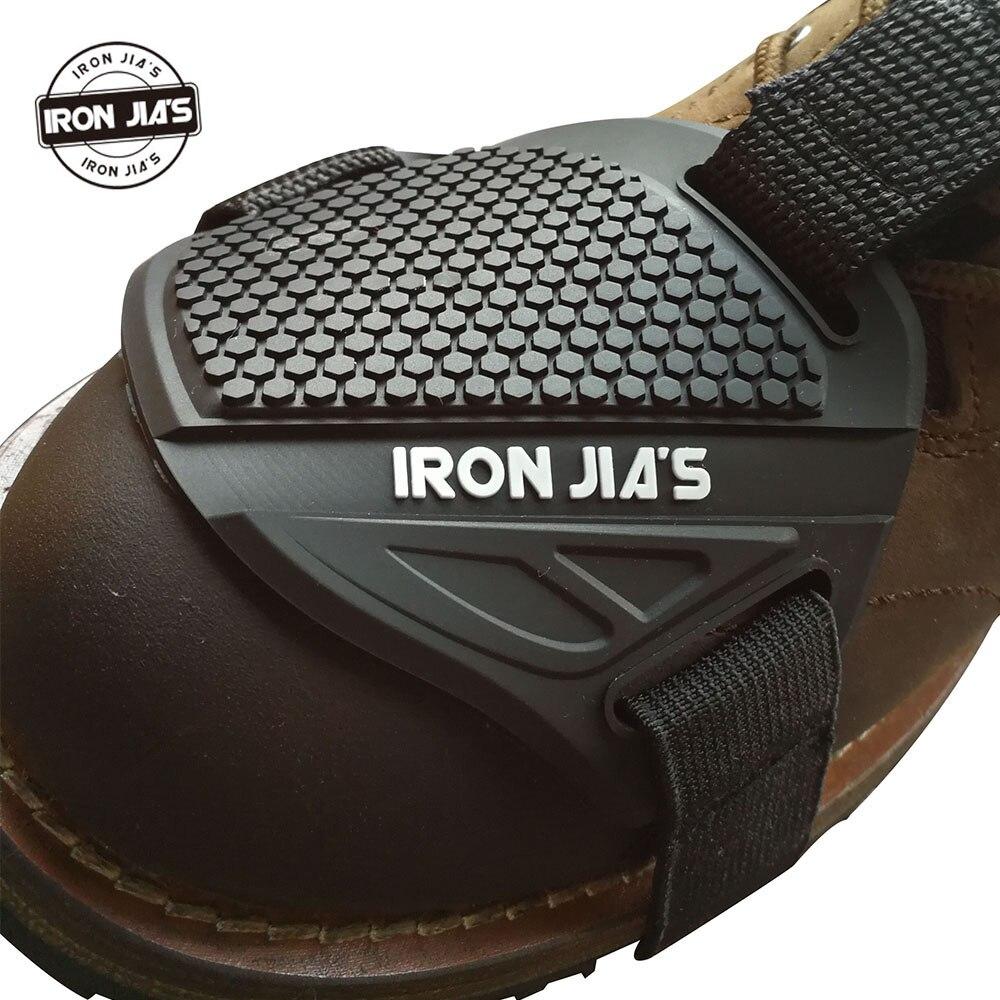 Iron Цзя; мотоциклетная обувь защитный Мотокросс Shift Pad Мужские ботинки защиты обуви Шестерни езда Гонки тормоза Обложка