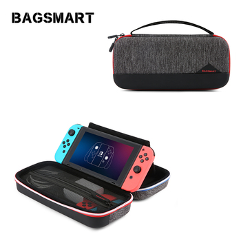 BAGSMART Hard Shell Nintendo Switch Case EVA Travel Electronic Organizer Carrying Case for Nintendo Switch Portable Pouch Bag
