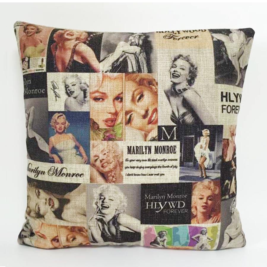 Cuscini Marilyn Monroe.Retro Marilyn Monroe Cushion Cover Marilyn Monroe Gallery Pillow