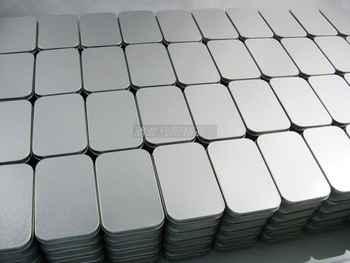 ดีเอชแอ100ชิ้นเงินธรรมดากล่องดีบุก9.4เซนติเมตรx 5.9เซนติเมตรx 2.1เซนติเมตร,สี่เหลี่ยมผืนผ้าชาลูกอมธุรกิจบัตรusbกล่องเก็บกรณี, 100ชิ้น/ล็อต