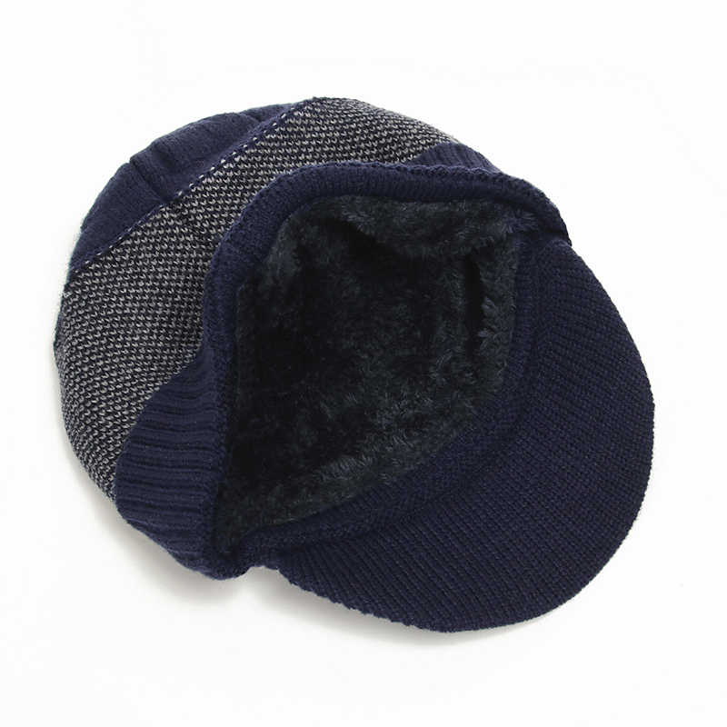 2020 Winter Hats For Men Skullies Beanie Hat Winter Cap Men Women Wool Scarf Caps Set Balaclava Mask Gorras Bonnet Knitted Hat
