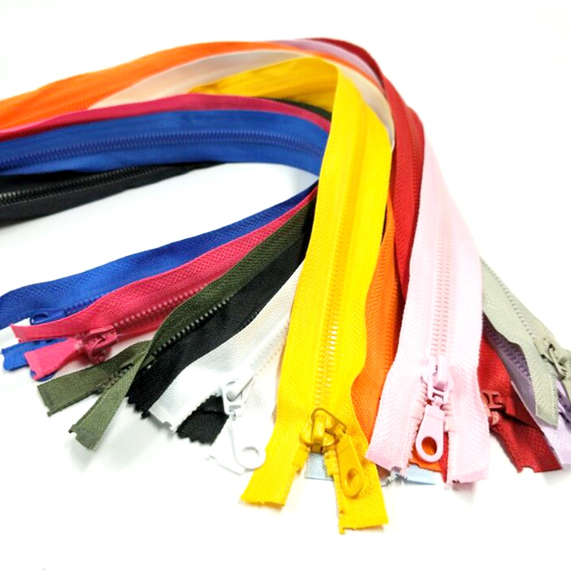 1pc 5 50CM Length High Quality Resin Zippers Open End Sportwear Apparel Bags Sewing Accessories 12 Colors Pick A069 in Zippers from Home Garden