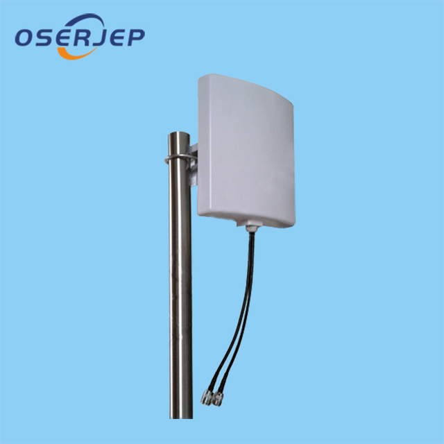 1800-2700 9dBi X 2 mhz 3 גרם 4 גרם LTE חיצוני תיקון פנל אנטנה כפולה קיטוב DCS PCS WCDMA LTE Mimo אנטנת WIFI WLAN