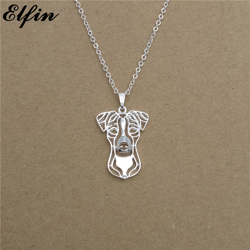 Elfin 2018 Jack Russell Terrier Necklace Gold Color Silver Color Dog Jewellery Parson Russell Terrier Pendant Necklace Women