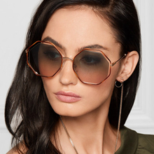 Vintage Luxury Round Oversized Sunglasses For Women Gradient Lens Brand Sun Glasses Female Alloy sunglasses Ladies