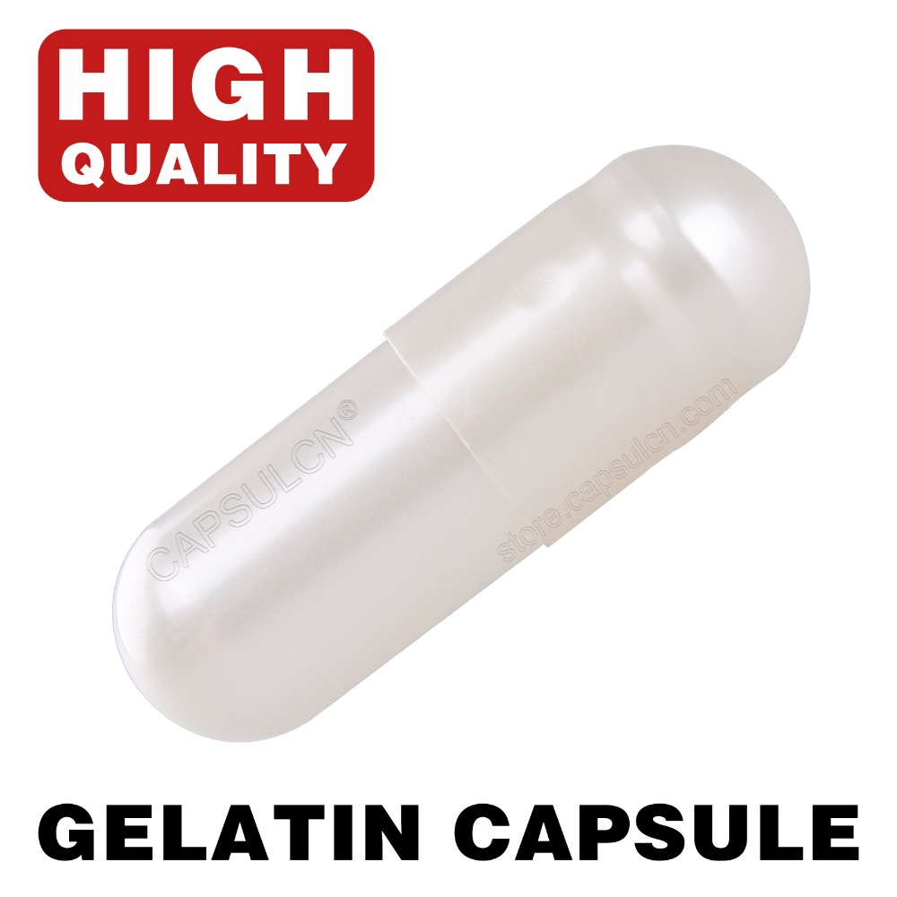 CapsulCN,Pearl White, Size 0 /10,000 Pieces / Carton Empty Joined Gelatin Capsules For Capsule Filling Machines