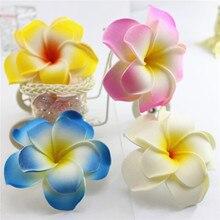 popular Brand New you pick 50 large double layer Foam Hawaiian Plumeria flower Frangipani Flower bridal hair clip 8cm