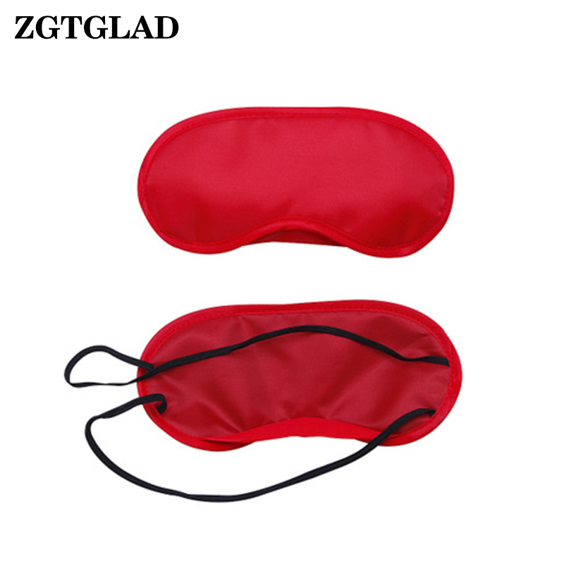 1 Pcs Pure Silk Sleep Eye Mask Padded Shade Cover Travel Relax Aid Blindfold Party Gifts
