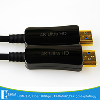 150M fiber cable Support HDCP2.2/CEC/EDID Optical HDMI cable 4K(4096*2160)60HZ 18G HDMI 2.0 PLUG AND PLAY 24K manufactory| |   -