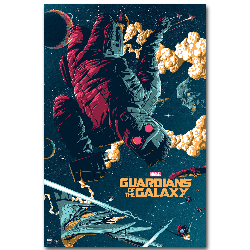 STAR LORD – Guardian of The Galaxy Art Silk Fabric Poster Print 13×20 24x36inch Superheroes Movie Picture for Room Wall Decor 07