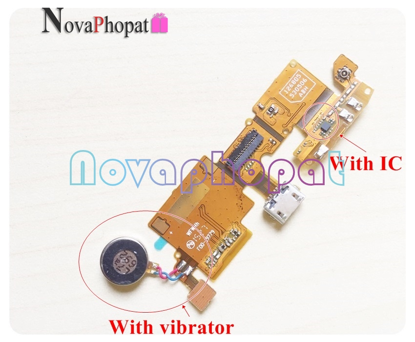 Novaphopat For ZTE Blade V6 X7 D6 Z7 T660 USB Dock Charging Dock Port Charger Connector Flex Cable Board Vibrator Mic +tracking