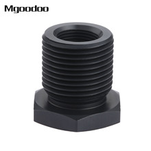 лучшая цена 1Pc Automotive Oil Filter Threaded Adapter 1/2-28 to 3/4-16 Black Anodized Aluminum UNF Threaded Fitting Auto replacement parts