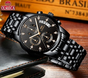 Image 2 - Mens Watches Top Brand Luxury OLMECA Clock Relogio Masculino 3ATM Waterproof Watches Chronograph Wristwatch Reloj Hombre for Men