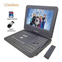 Liedao 9.8inch Portable DVD Player Rechargerable Battery Game Player Radio Portable Analogue TV AV SD / MS / MMC Card Reader