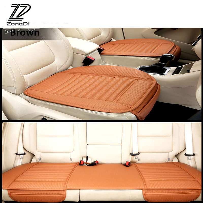 ZD 2018 NEW Pu Leather Car Styling <font><b>Seat</b></font> Pad Cushion <font><b>Covers</b></font> For Volvo S60 V70 XC90 Subaru Forester <font><b>Peugeot</b></font> 307 <font><b>206</b></font> 308 407 2008 image