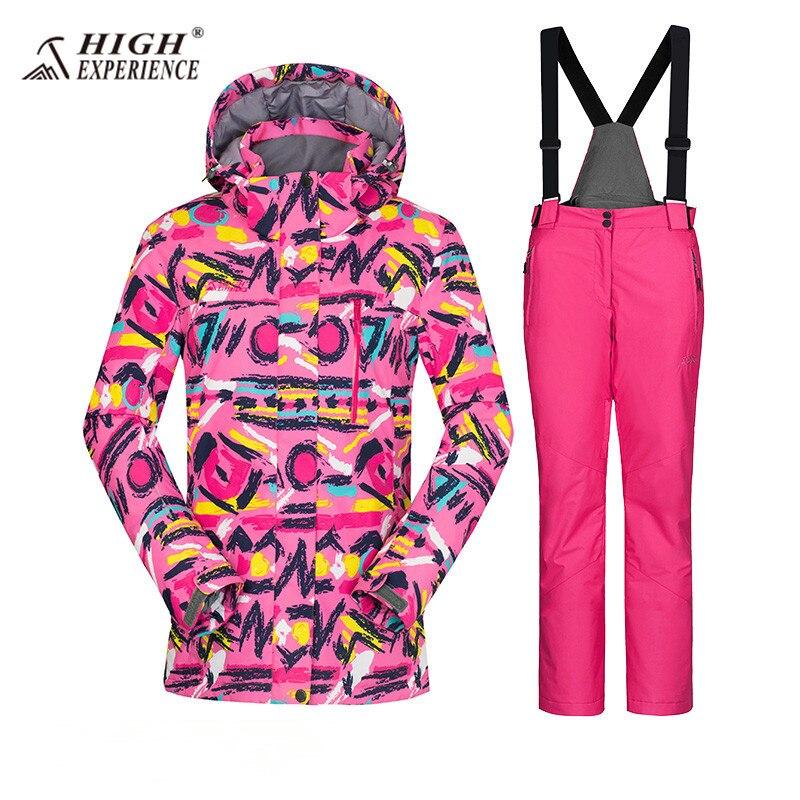 Hiver femmes Ski costumes imperméable hiver Sport costume femmes neige vestes pantalon Ski costume femmes Snowboard ensemble femme russe 42-52
