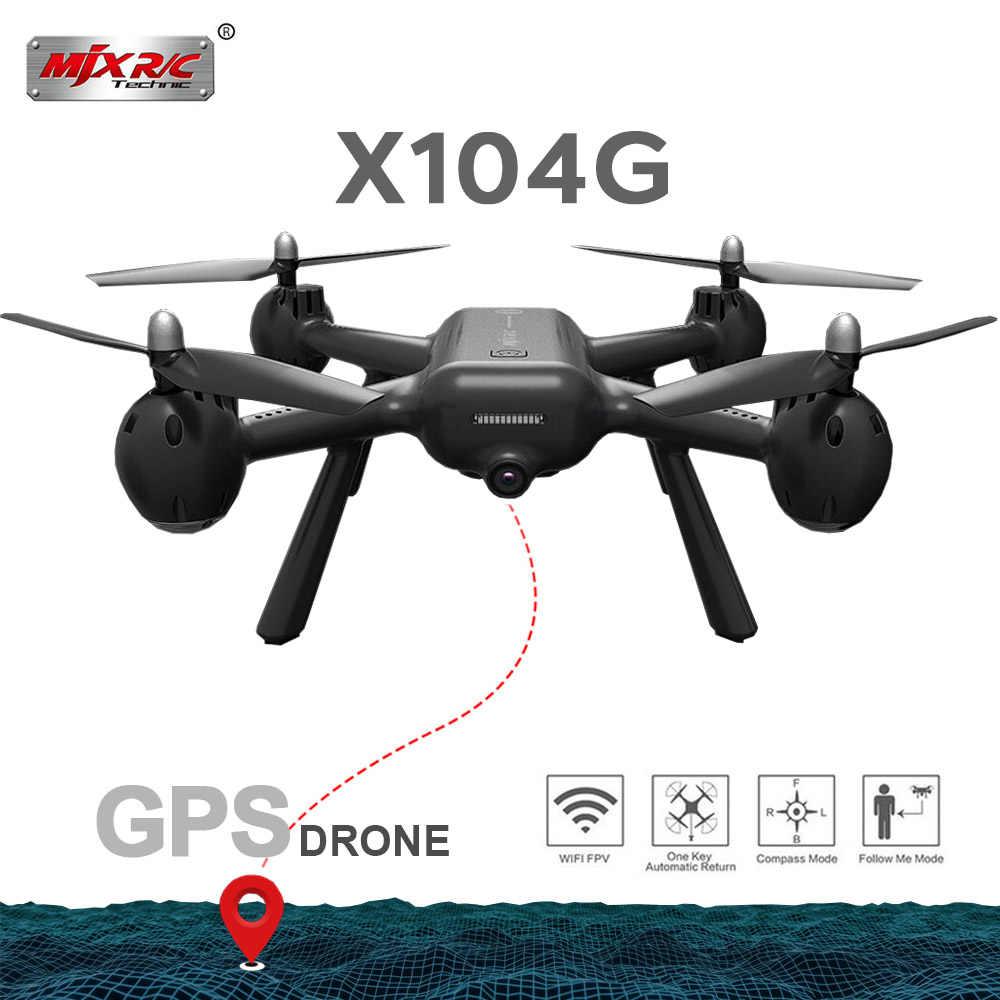 MJX X104G copo Oco Do Motor GPS Zangão RC Com 5G WIFI FPV HD Camera RC Quadcopter VS Z5 RC dom Brinquedos RC Dron helicóptero