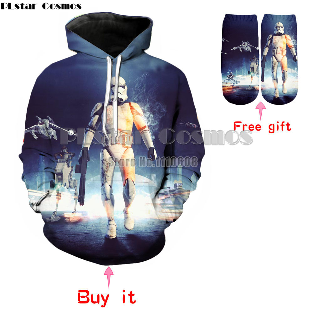 PLstar Cosmos White Samurai Crewneck Hoodies Sweatshirt Men's/women Long Sleeve 3d hoodies Carnival