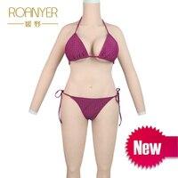 Роанье Трансвестит силикон форма груди для транссексуалов всего тела костюмы мужчин и женщин поддельные грудь транспол