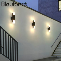 Outdoor Staircase Aisle Waterproof Acrylic Wall Lamp Modern Creative Exterior Wall Lights Garden Balcony LED Wall Lamp BL298