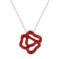 Neue Stilvolle Rose Opal Halskette Schöne Blume Für Frauen Halsketten Hochwertigem 925 Sterling Silber Halskette Schmuck
