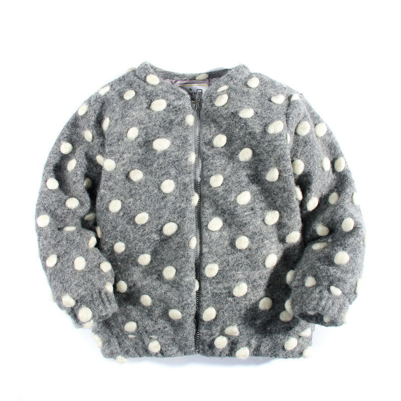 [SAIID KOBEISY] Clothing Female Baby Autumn Winter Wool Coat Children With Velvet Cotton Coat Winter Dots Pattern Jackets цены онлайн