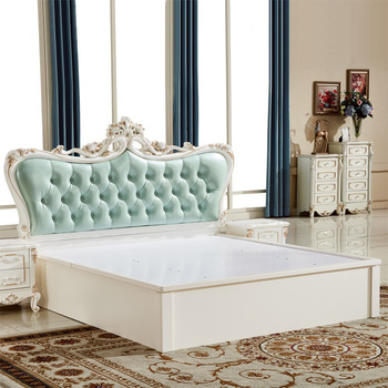 Lit King Size En Cuir De Style Antique Royal