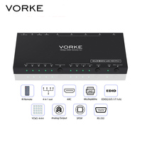 VORKE HD41 Pro 4k 60Hz 4 4 4 10 Bit 4x1 HDMI Switcher HDCP2 2 ARC
