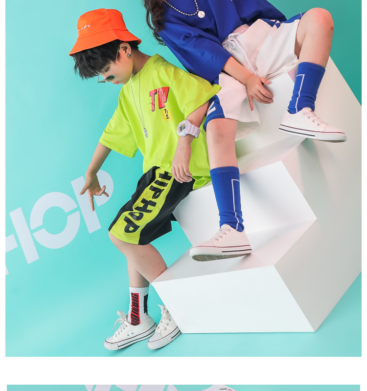 Kid clothes girl Boy set Summer 2019 4 6 8 10 12 14 Years Hip Hop T shirt Pants dance costumes kids boys Girls young clothes (6)