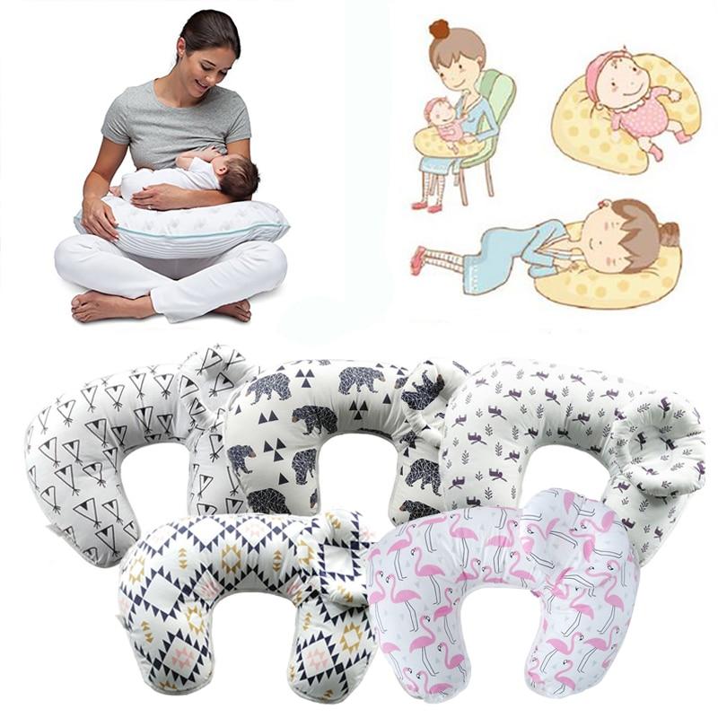купить 2Pcs Baby Nursing Pillow Infant Breast Feeding Cushion Newborn Head Protection Adjustable Baby Bedding Pillow U-Shape Breast Pad по цене 1836.75 рублей
