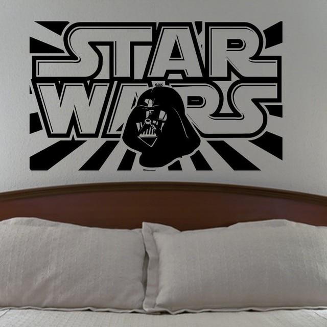 Star Wars Wall Decal With Darth Vader Vinyl Sticker Boys Bedroom