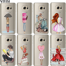 VIYISI Girl For Samsung Galaxy S8 Phone Case J7 J5 J3 A3 A5 2015 2016 2017 S6 S7 Edge S9 Plus Coque Cover Etui Capas Back Bags все цены