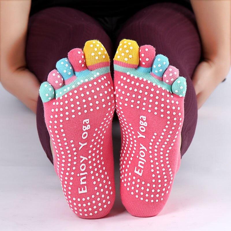 2018 Professional Sports Yoga Socks Fitness Cotton Toe Socks Womens Pilates Sox Non-slip Ladies Dance Socks Free Szie