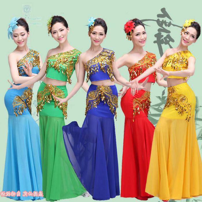 390b12865f5 Chinese Minority Costumes Dai National Dress Women Chinese National ...