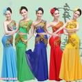 Trajes chinos Minoría Dai Nacional Vestido de Mujer Ropa Traje Nacional Chino Antiguo Chino Tradicional Traje de la Danza