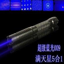 Super Leistungsstarke high hochleistungs-dual-militär Blaue laser-pointer 100 watt 1000000 mw 450nm brandgleich zigarre schneiden papier kunststoff + 5 caps + box