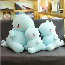 WYZHY down cotton blue dinosaur plush toy doll sofa decoration to send friends and children gifts 50CM