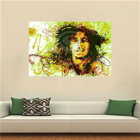 LF516JY57 Custom Bob Marely Canvas Painting Wall Silk Poster cloth print DIY Fabric Poster JY41