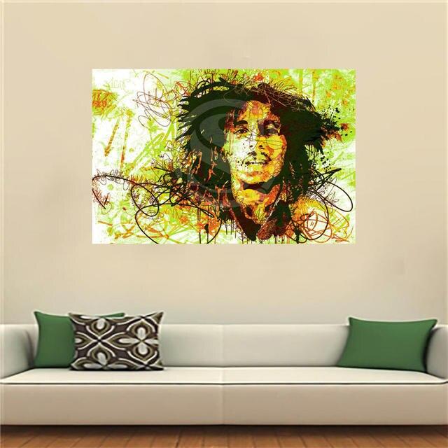 LF516JY57 Custom Bob Marely Canvas Painting Wall Silk Poster cloth ...