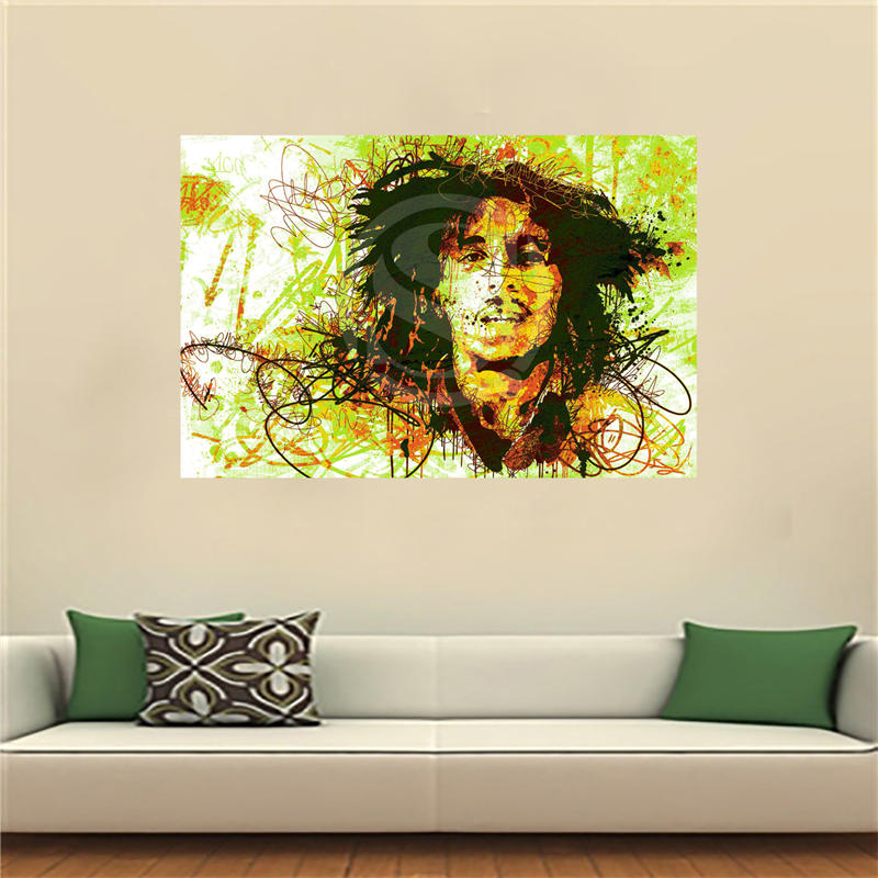 Á—šlf Jy Personnalis Bob Masure Toile Peinture Mur Soie Affiche Tissu Impression Bricolage W541