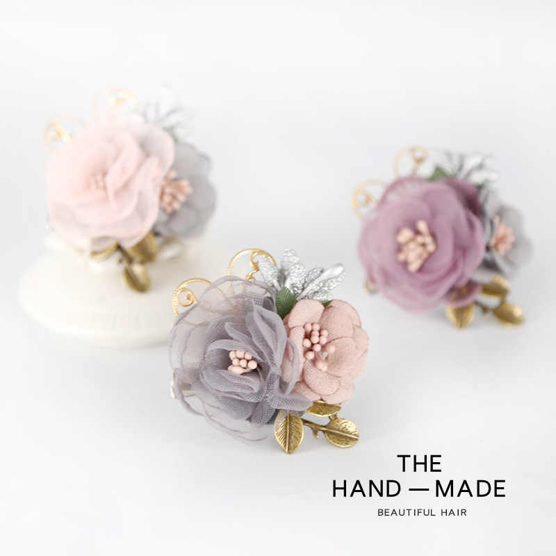 ... i-Remiel New Korean Women Fabric Pink Flower Brooch Corsage Shawl  Buckle Dress Coat Temperament ... f0e5490480