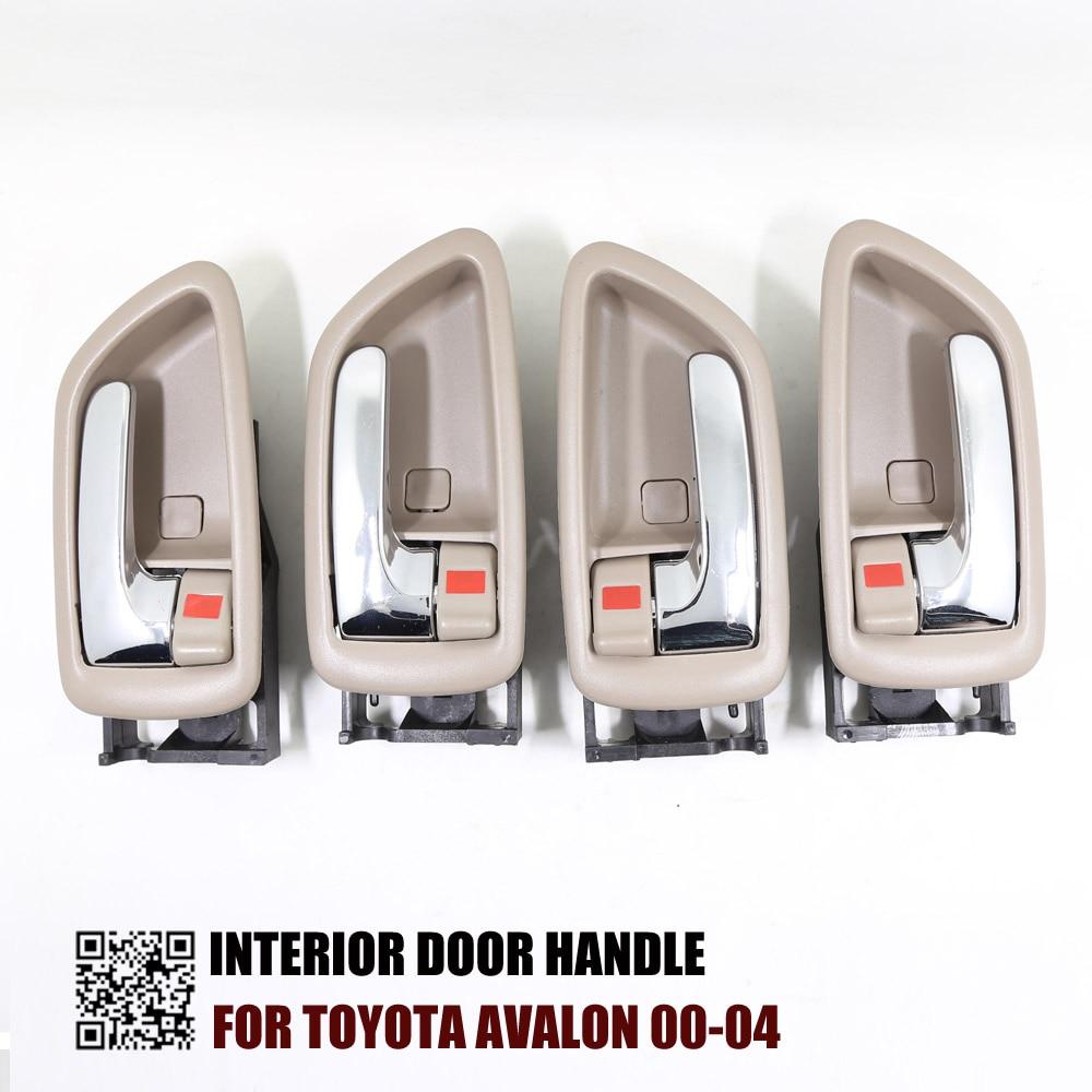 4PCS ONE SET INTERIOR DOOR HANDLE FOR TOYOTA AVALON RH 69205 AC010 LH 69206 AC010