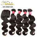 4 Bundles And Lace Closure Brazilian Body Wave Human Hair With Closure Unice Hair Products Brazilian Virgin With Closure