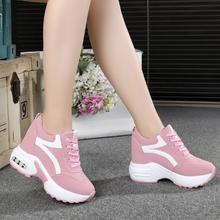 Новинка; повседневная обувь на высокой платформе; женская дышащая обувь, увеличивающая рост; кроссовки на толстой подошве 10 см; женские кроссовки; Deportivas Mujer