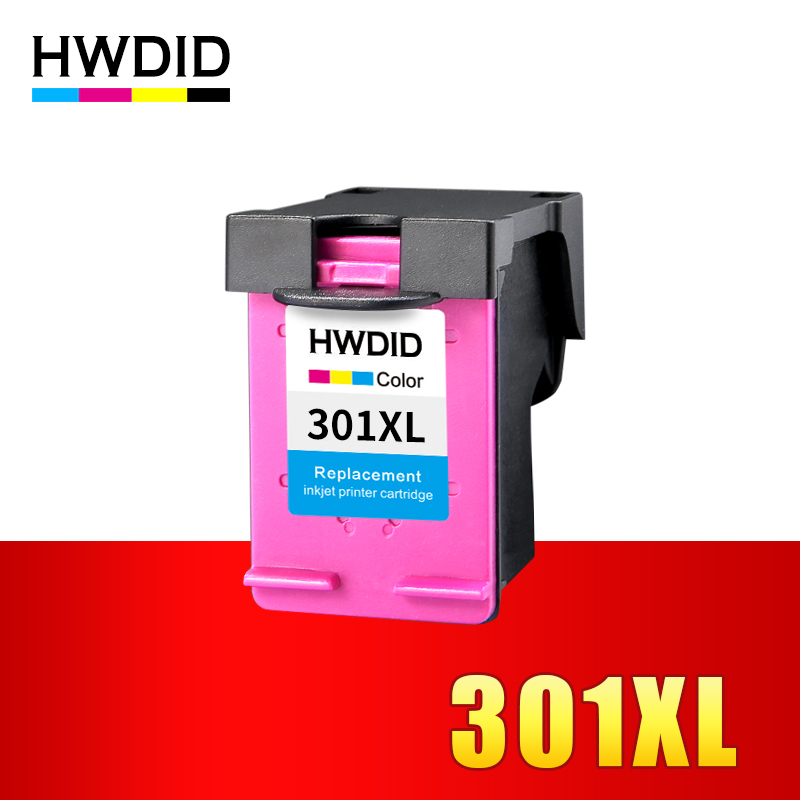 HWDID 301XL Refilled Ink Cartridge Replacement for HP 301 xl TRI-COLOR for Deskjet 1000 1050 2000 2050 2510 3000 3050 3052 3054 майка print bar винсент и джулс