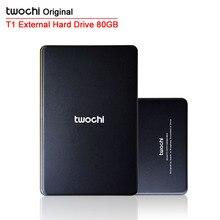"Envío gratis TWOCHI T1 Original 2.5 "" External Hard Drive 80 GB USB2.0 móvil HDD portátil de disco de almacenamiento Plug and Play"