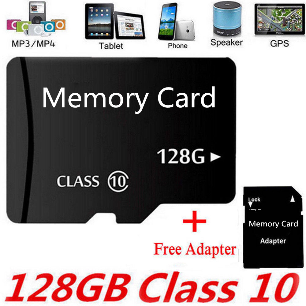 NEW Micro SD Memory Card 2G/4G/8G/16G/32G/64G/128G/256G Flash TF Class 10 SDXC SDHC Card + Free Adapter